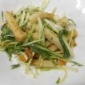 ちくわと水菜のかんたんおつまみ。お弁当や副菜にも。