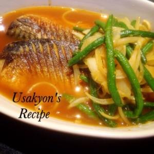 鯖と野菜の焼き漬け☆カレー風味