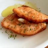 鮭のニンニクオリーブオイル焼き