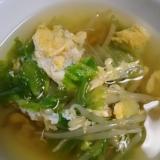 モヤシとレタスの卵スープ(^^)