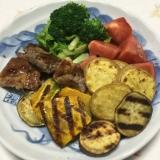 豚肉と色々イモ焼き