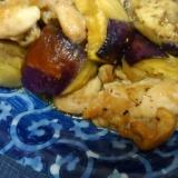 鶏肉と茄子の酢醤油焼き