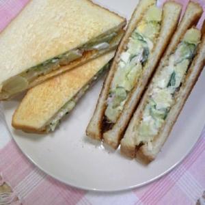 美味しいサンドイッチ!ポテトサラダサンド♪