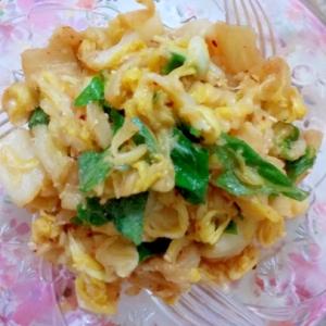 白菜とシソの葉の和え物レシピ♪