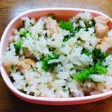 ブロッコリーと豚肉の中華炒めご飯