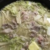 豚肉と白菜、えのきの味噌バター鍋
