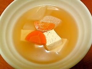 簡単♪大根・豆腐・人参のスープ