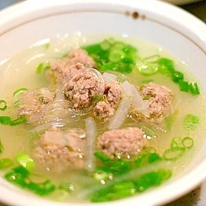 肉団子の中華スープ