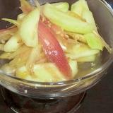 茗荷と摘果メロンの酢の物