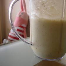 黒糖バナナの豆乳スムージー♪