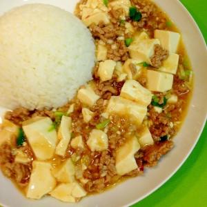 花椒一振りで本格的に♪簡単な麻婆豆腐丼