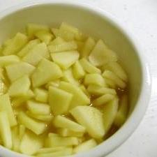 電子レンジで煮リンゴ