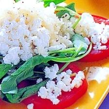 トマトとカッテージチーズのサラダ