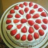 母の日!!イチゴたっぷりスポンジケーキ
