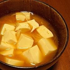 我が家の味噌汁★豆腐とえのき