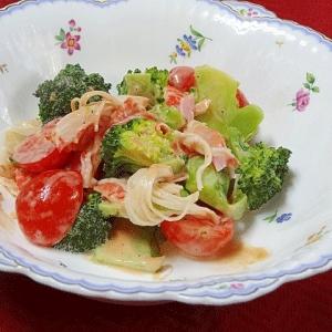 簡単オーロラソース&ブロッコリーのサラダ