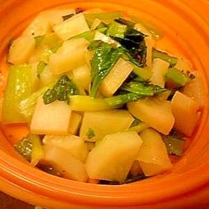 ジャガイモと小松菜のサラダ☆シリコンスチーマーで