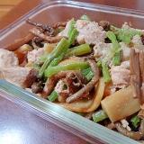 生姜が決め手♪豚肉とメンマと蕨の香味煮