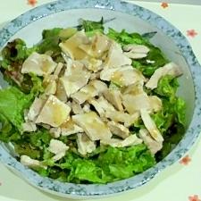 ゆで豚とレタスの手抜きサラダ