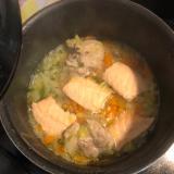 【離乳食】鮭のちゃんちゃん焼き