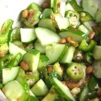 韓国味の納豆きゅうり