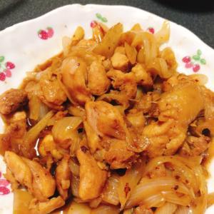 鶏肉と玉ねぎの照り焼き