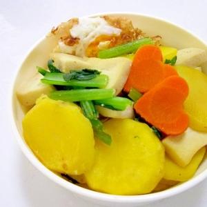 お弁当に♪じゃがいもと小松菜の白だし炒め