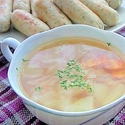 お肉と野菜の旨味たっぷりスープ