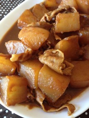 こってり美味しい*豚バラ肉と大根の味噌煮♪