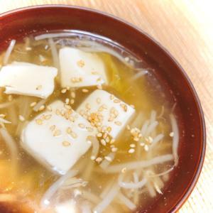 もやしとレタスのお豆腐あんかけスープ