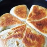フライパンで蕎麦パン