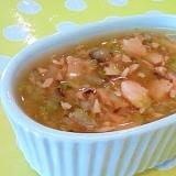【離乳食】サーモン&白菜のスープ煮