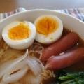 鶏ガラの素で、あっさりラーメン(*^^*)