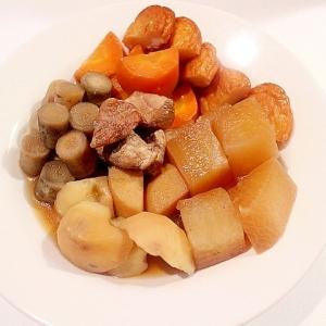 汁まで飲めるコロコロ野菜の煮物