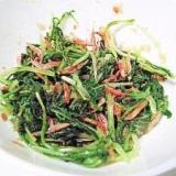 彩り鮮やか、香りも良し!水菜と桜海老のおひたし