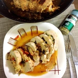 鶏胸肉の野菜チーズ詰め☆隠し味はオレガノ!