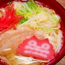 素麺☆沖縄そば風温麺