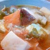 春雨入り、スンドゥブ風スープ