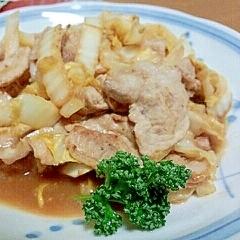 甘酒でコクをプラス☆白菜と豚肉の味噌炒め