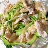 きゅうりと鶏ハムのサラダ☆