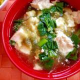 豆腐と小松菜 とろろ昆布のすまし汁