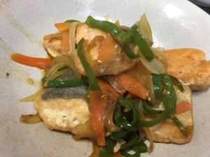 鮭の南蛮炒め