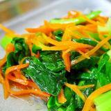 小松菜と人参の炒めもの