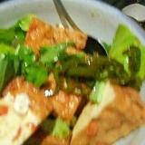 厚揚げと小松菜のピリ辛和え