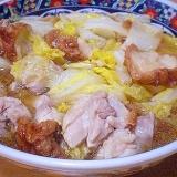 「白菜と鶏肉と仙台麩の煮物」    ♪♪