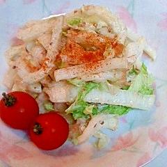 半干し白菜とちくわのサラダ