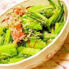 ダシダde❤小松菜の辛子カニかま炒め❤