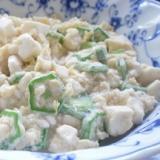 オクラと豆腐の炒り卵