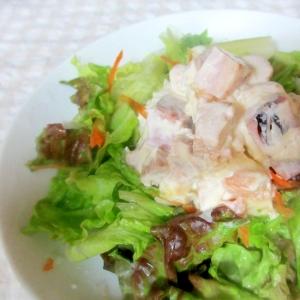 鶏ハム梅マヨサラダ