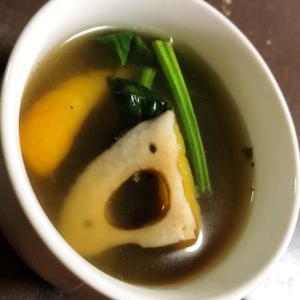 おでんスープをリメイク☆野菜の中華スープ